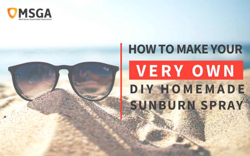 How to Make Your Own DIY Homemade Sunburn Spray
