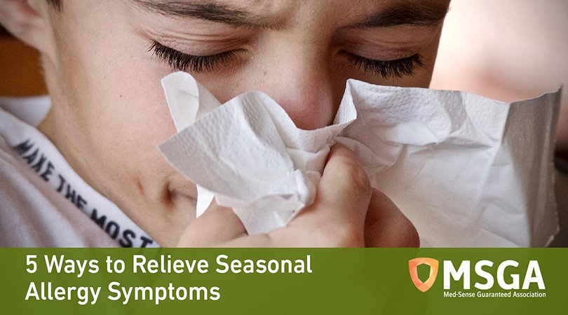 5 Ways to Relieve Seasonal Allergy Symptoms