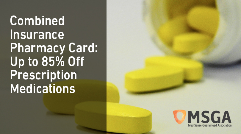 Combined Insurance Pharmacy Card: Up to 85% Off Prescription Medications